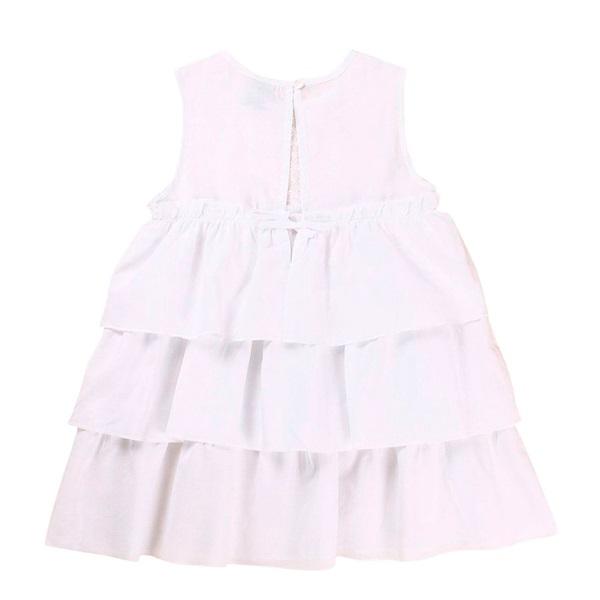 Imagen de Vestido de niña en blanco con volantes