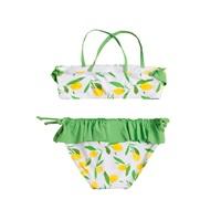 Picture of Bikini de niña con estampado de limones y volante