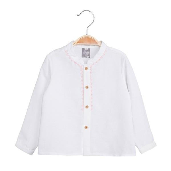 Imagen de Camisa de bebé niño en blanco y manga larga