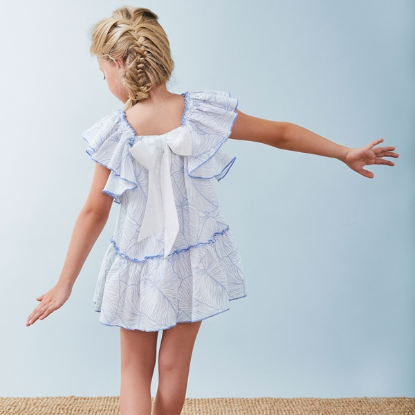 Picture of Vestido de niña estampado con volantes