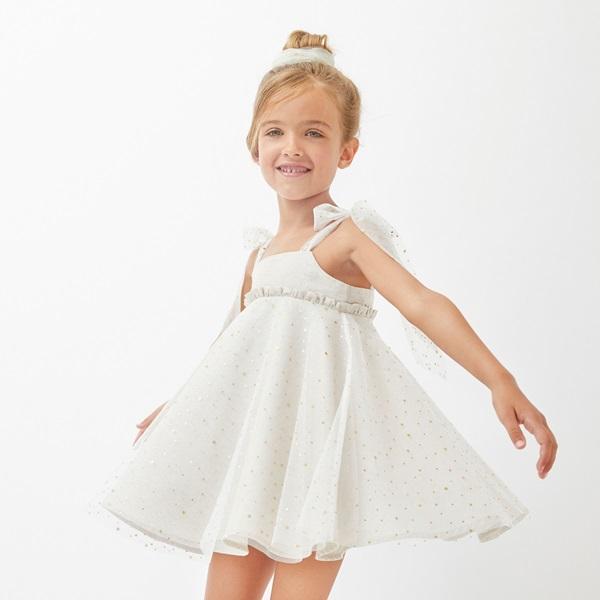 Picture of Vestido de niña en color arena y brillo