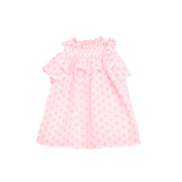 Picture of Blusa de niña de tirantes con estampado de estrellas