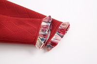 Imagen de vestido granate neopreno con cuadros