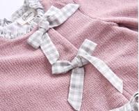 Picture of Vestido BB chenilla rosa volantes espalda