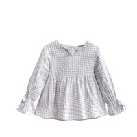 Image de blusa de vichy gris