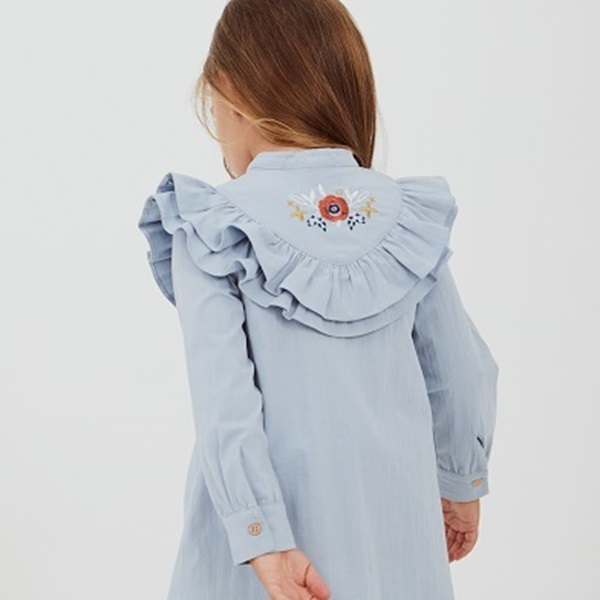 Picture of Vestido junior boho azul