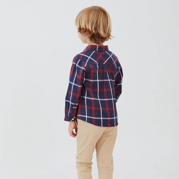 Image de Camisa junior cuadros azules marsella