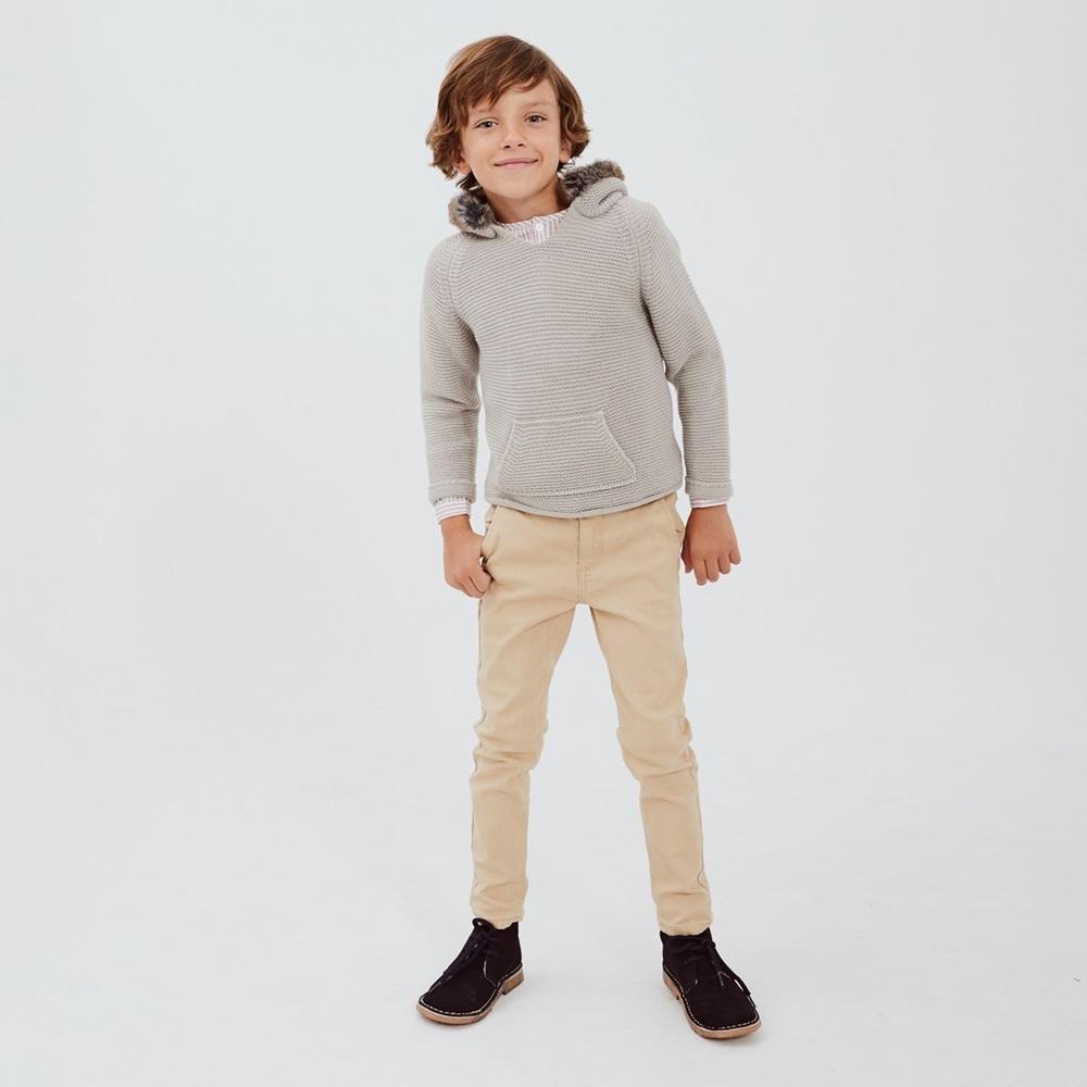 Imagen de Jersey canguro junior capucha con pelo