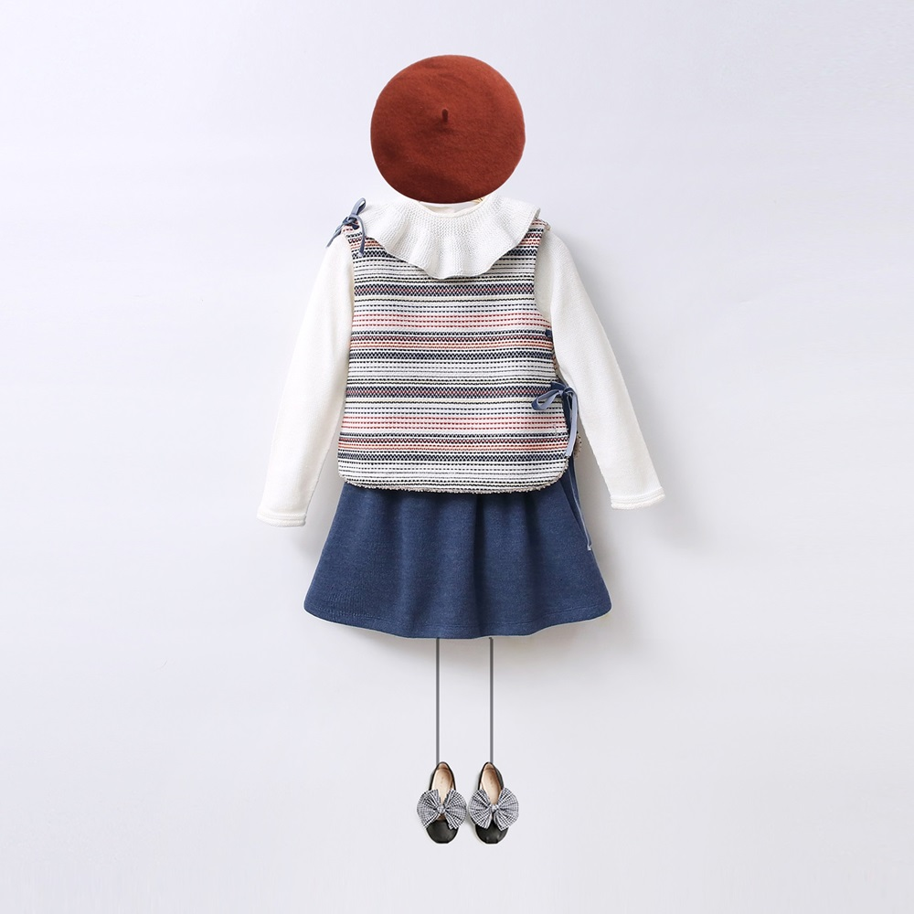 Imagen de LOOK Boho falda azul-chaleco