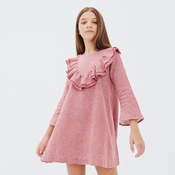 Image de Vestido  niña pata de gallo Caperucita