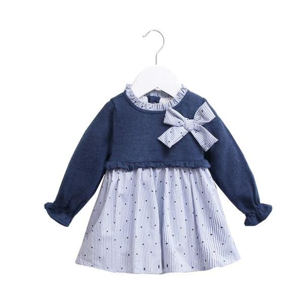 Image de vestido combinado punto-camisero