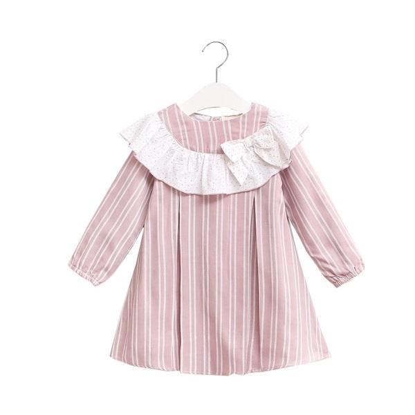 Image de Vestido junior rayas rosas