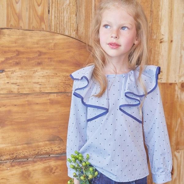 Image de blusa con maxi volante