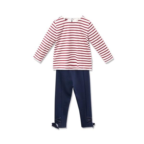 Imagen de pantalon marino elastico con lazo terciopelo
