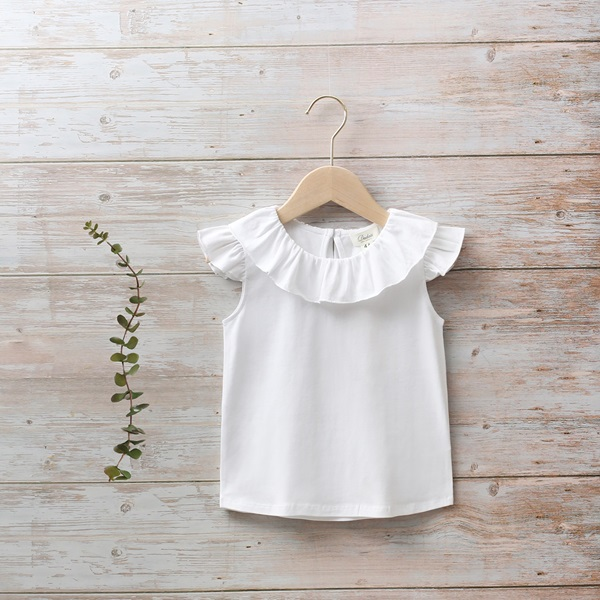 Imagen de Camiseta niña blanca con volante