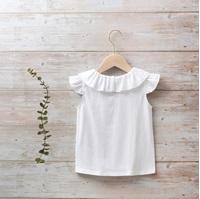 Image de Camiseta niña blanca con volante