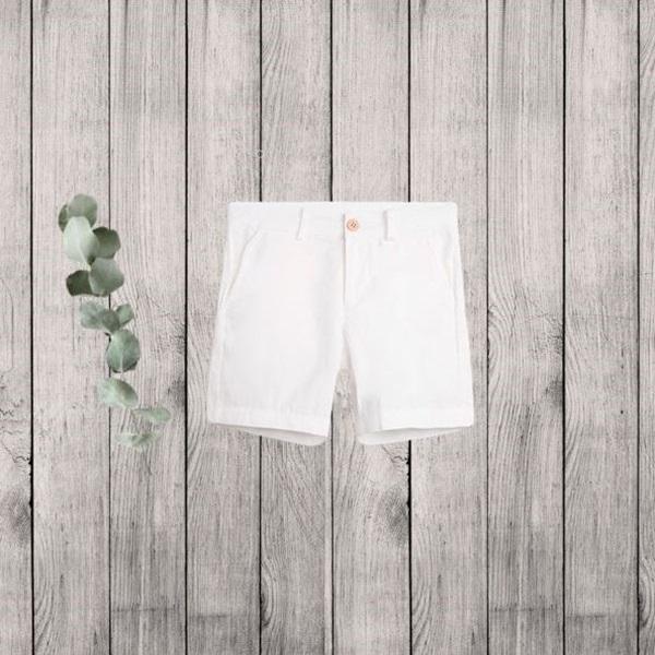 Picture of Bermuda de niño en blanco con bolsillos