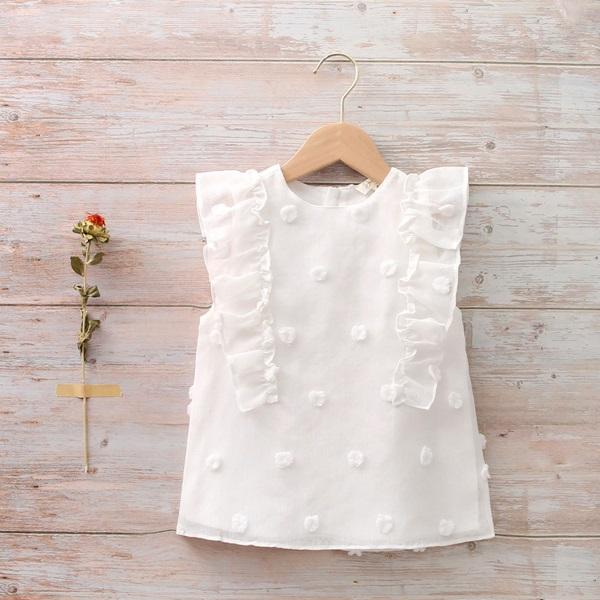 Imagen de Blusa niña con lunares en relieve blanco roto