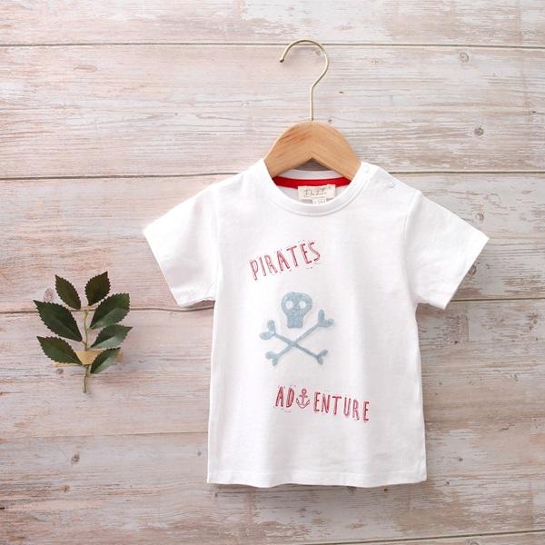 Imagen de Camiseta bebé con estampado de calavera lentejuelas