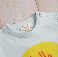 Imagen de Camiseta bebé verde estampado caribe