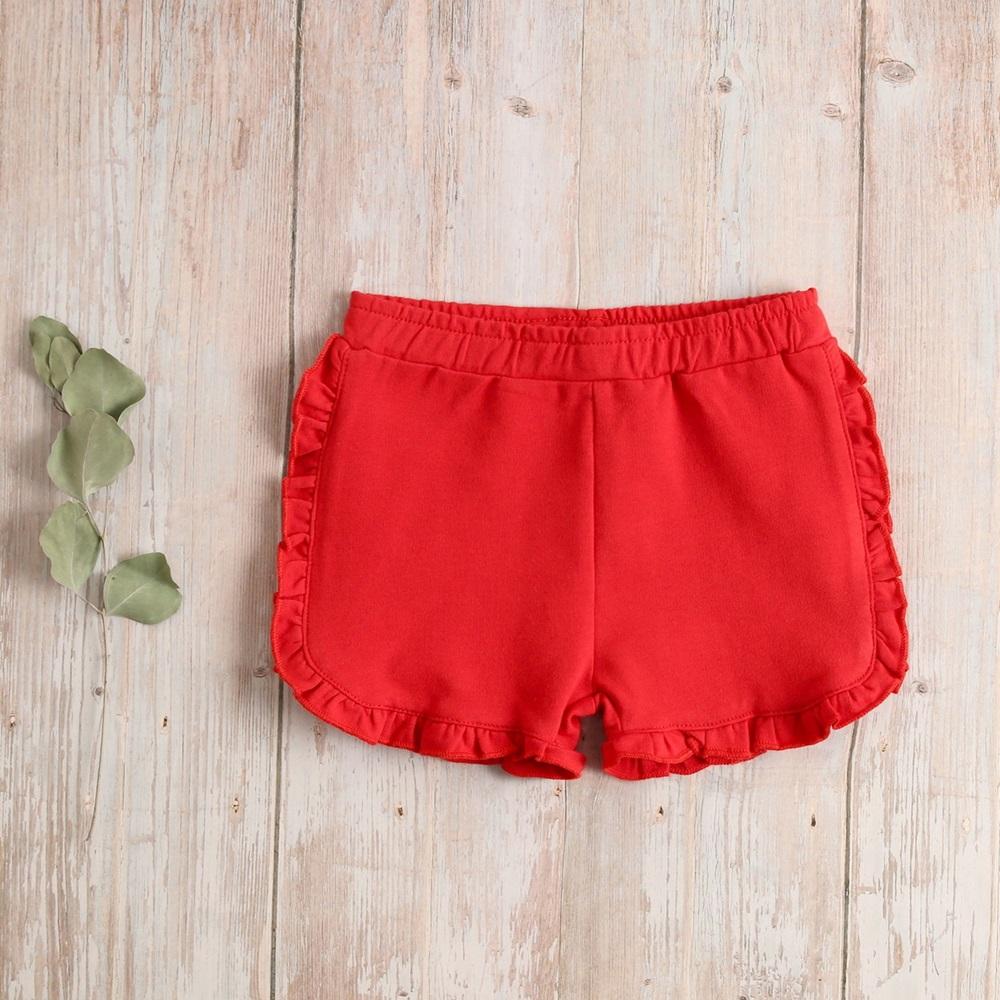 Imagen de Short bebé rojo algodón con volantitos