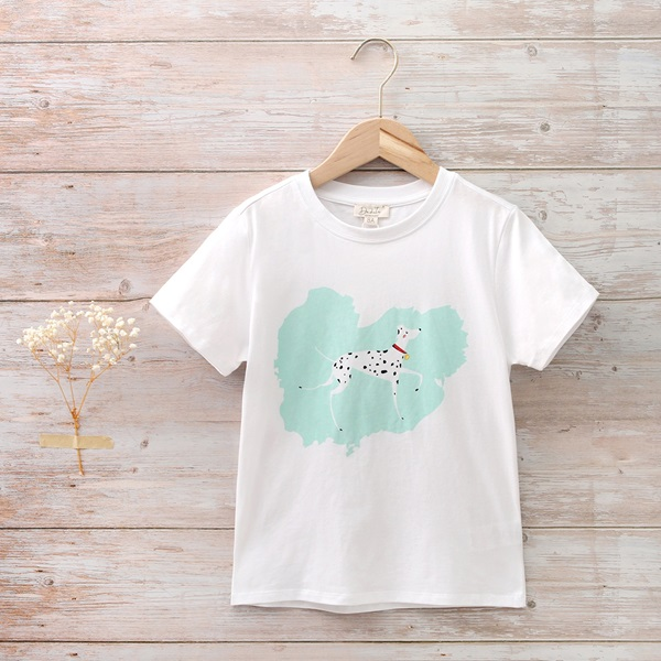 Imagen de Camiseta algodón blanca estampado perro dalmata