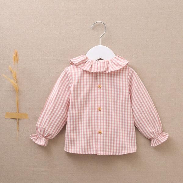 Imagen de Blusa bebé niña vichy rosa-blanco