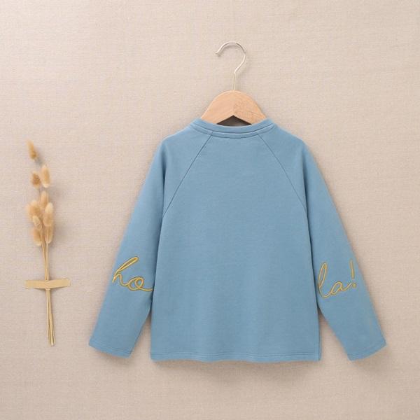 Imagen de Sudadera verde azul con bolsillo canguro